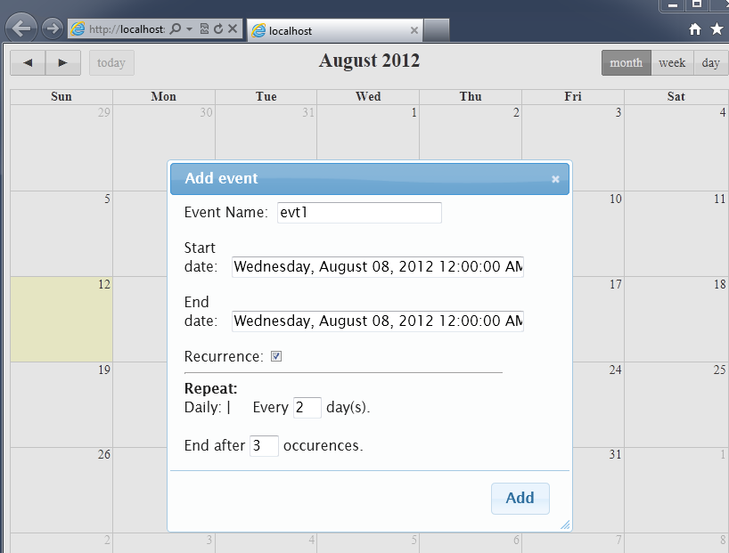 Exploring JQuery plugin 'FullCalendar'  | Simple  Net Solutions